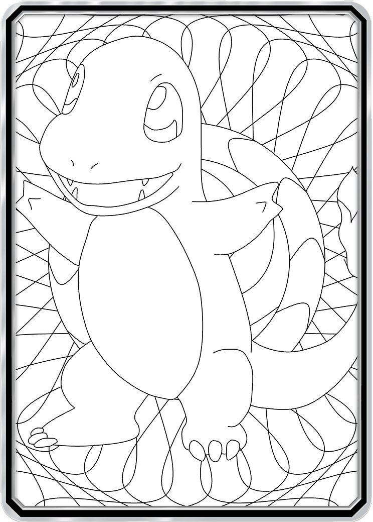 Color Me Charmander Custom Pokemon Coloring Card Pokemon Coloring Pokemon Coloring Pages Color Card