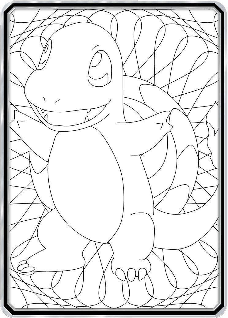 Color Me Charmander Custom Pokemon Coloring Card Pokemon
