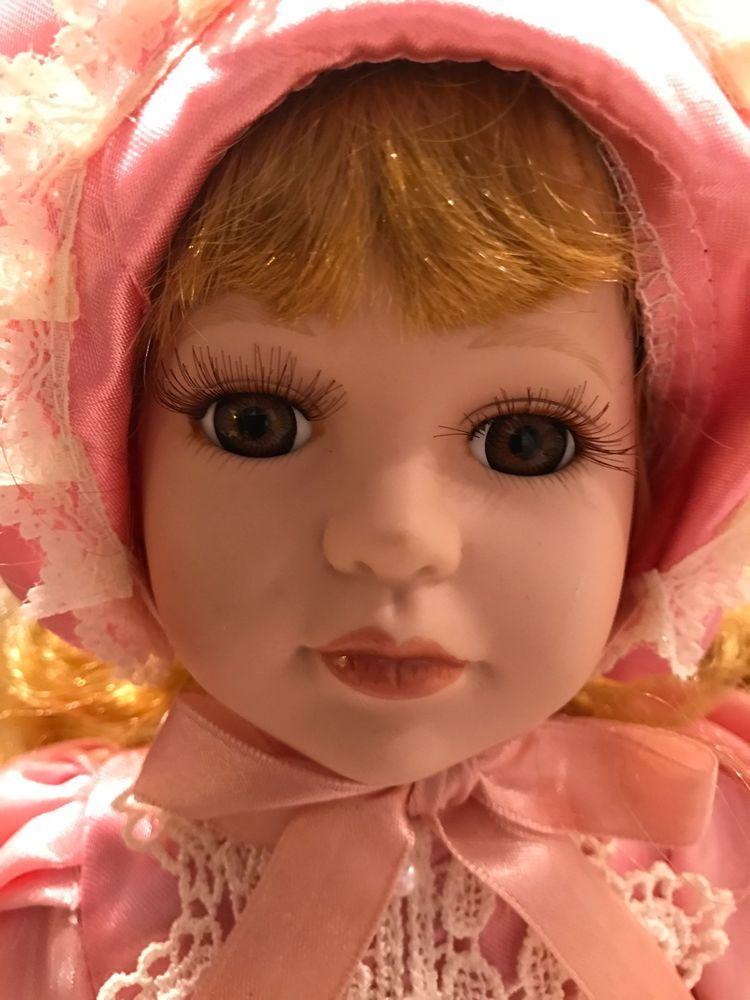VINTAGE NANCY DOLL Collector Blonde Curly Hair Pink Dress ...