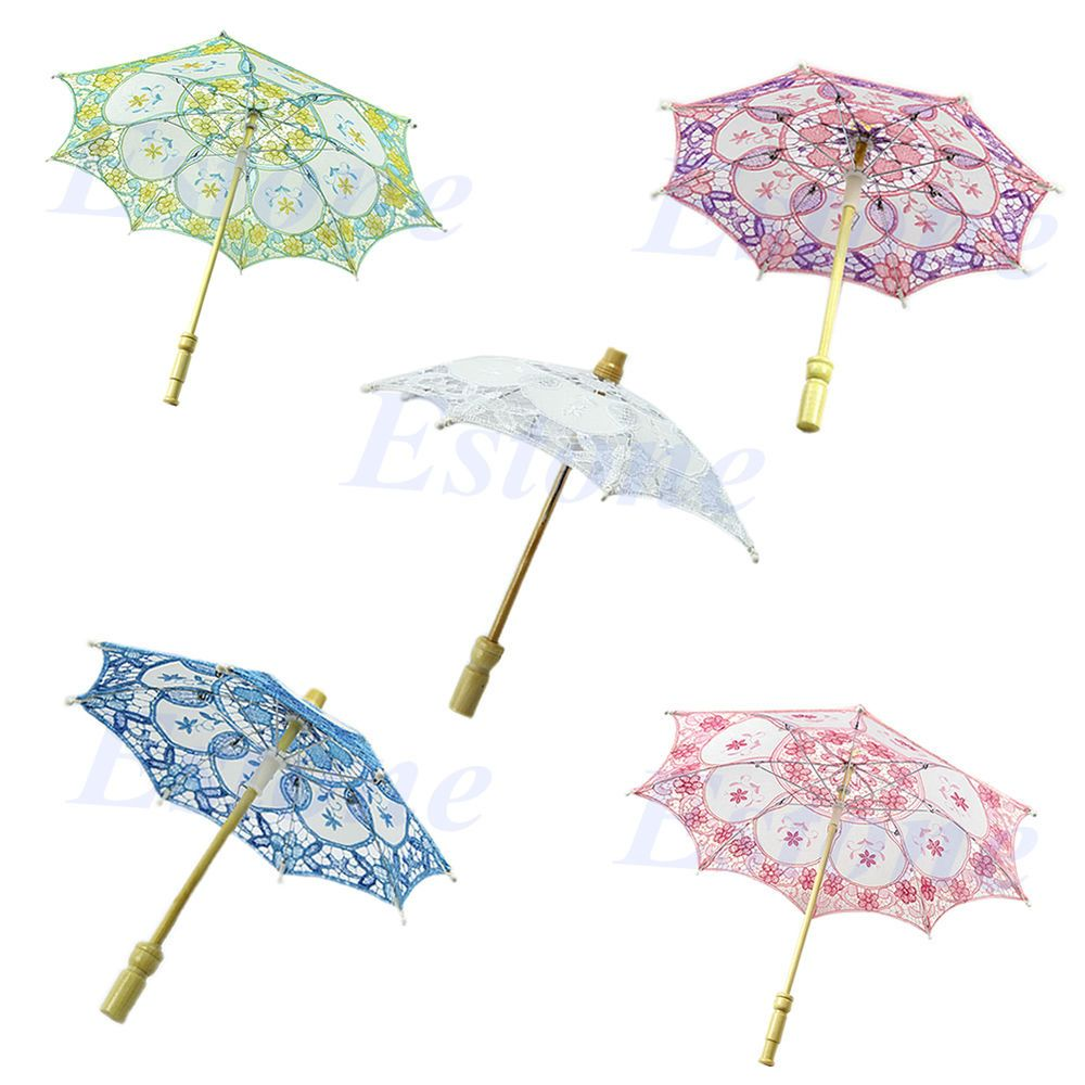 Purple new bridal wedding embroidered lace parasol umbrella party purple new bridal wedding embroidered lace parasol umbrella party decoration in clothing shoes accessories junglespirit Choice Image