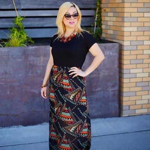 Black Geometric Illusion Maxi Dress #zulilyfinds: