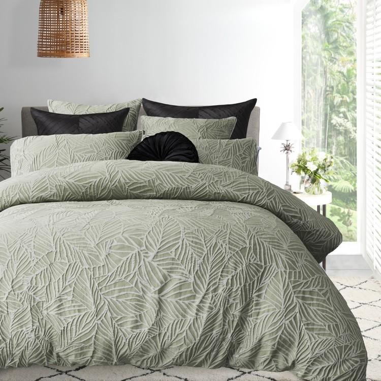 Platinum Aruba Quilt Cover Set Sage King Single Size Bed Quilt Cover Sets Quilt Cover