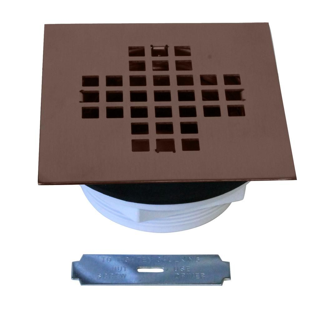 Westbrass 2 In Sch 40 Pvc Shower Drains With 4 1 4 In Square