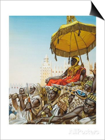 Mansa Kankan Musa I, 14th Century King of the Mali Empire Posters by Mcbride at…