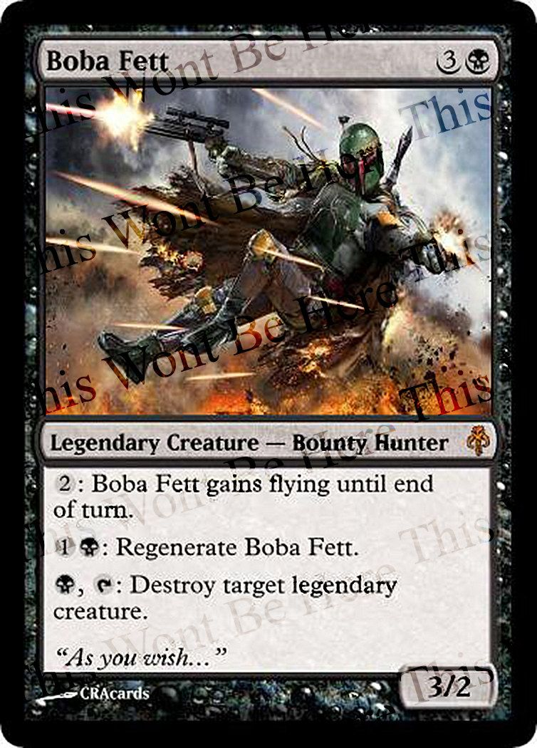 Magic the Gathering Parody Foil Card: Boba Fett by CRAcards on Etsy