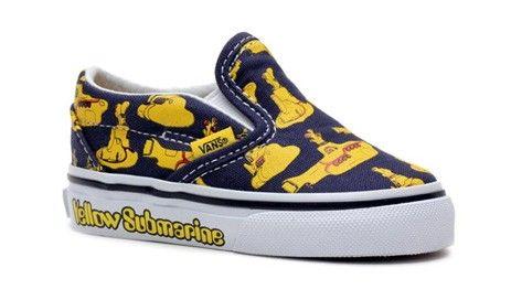 d4600df3b6 Vans Toddler Classic Slip-on (Beatles) Yellow Submarine