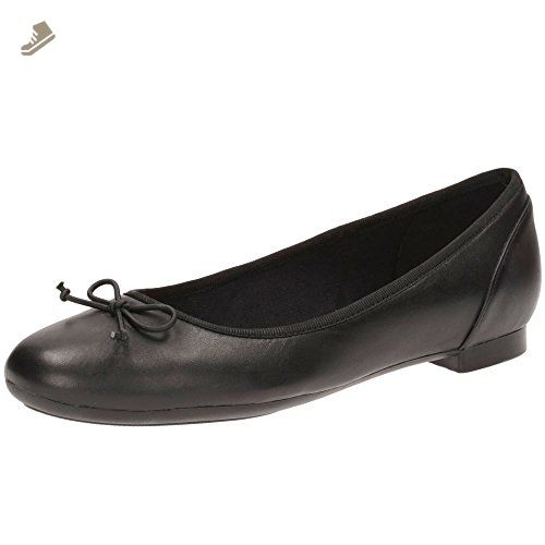 Clarks Women's Candra Glare Black Leather 7.5 D - Wide fdCCM222oO