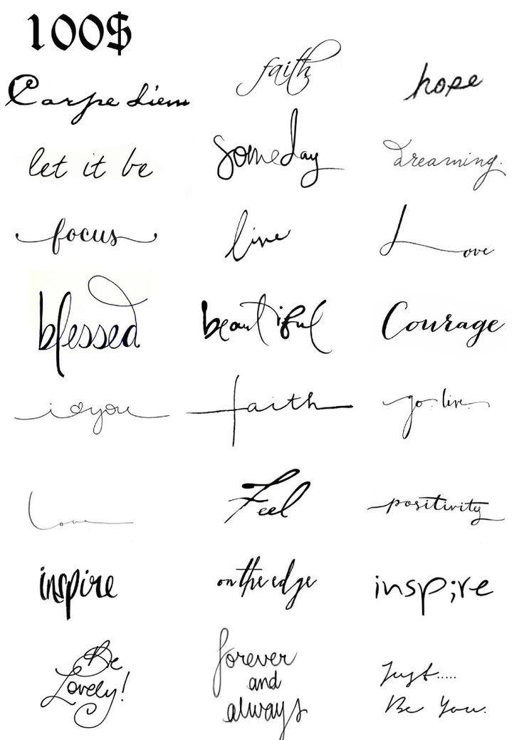 Carattere Scritta Idee Per Tatuaggi Tatuaggi Tatuaggi Con