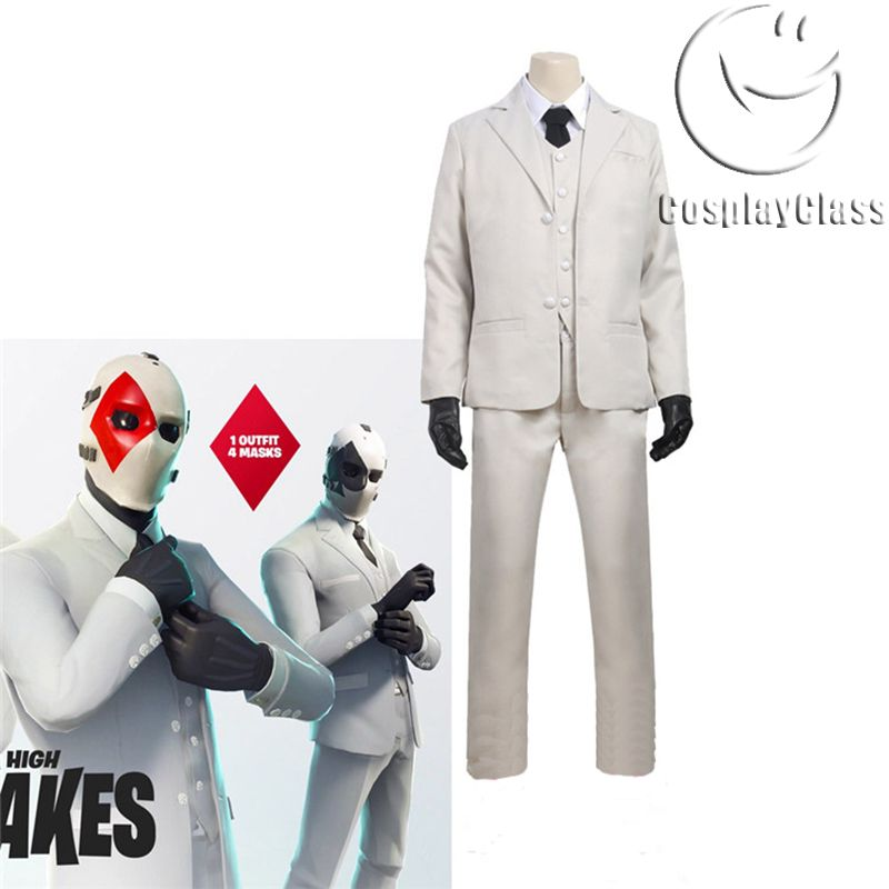 Wild Card Outfit Skin Christmas Cosplay Full Mask For Battle Royale