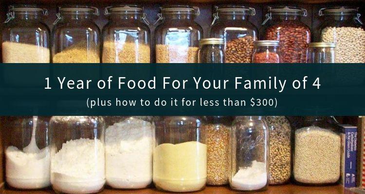 3month Supply of Food Storage in 52 Weeks (per Adult