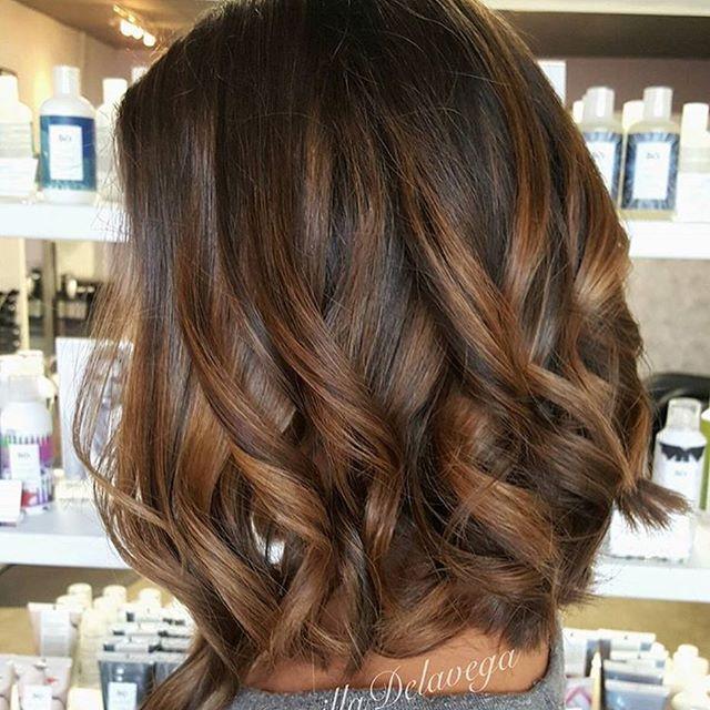 Warm Brunette Balayage Beautiful Color Balayage Hair