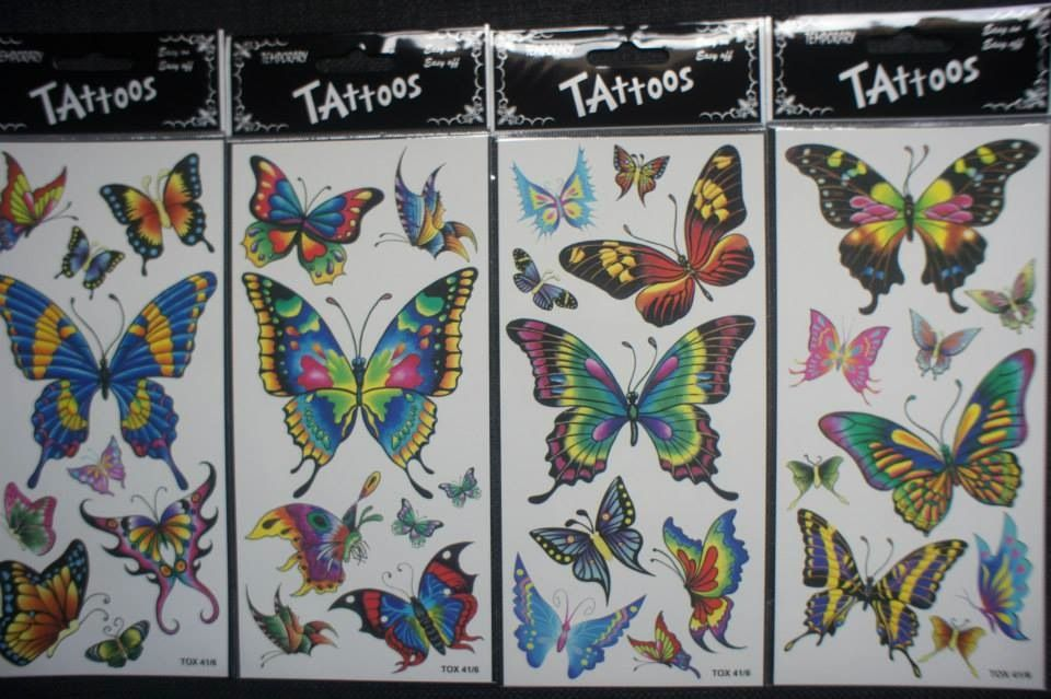 We have a range of various temporary tattoos for any age.