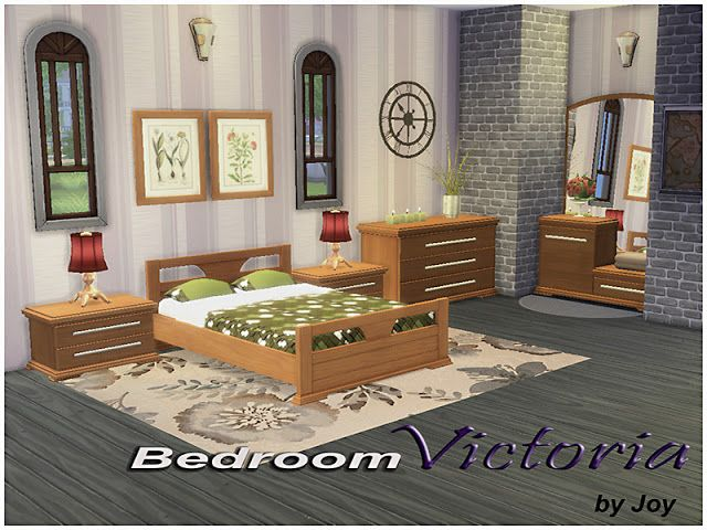 Sims 4 CC's - The Best: Bedroom Victoria by Joy