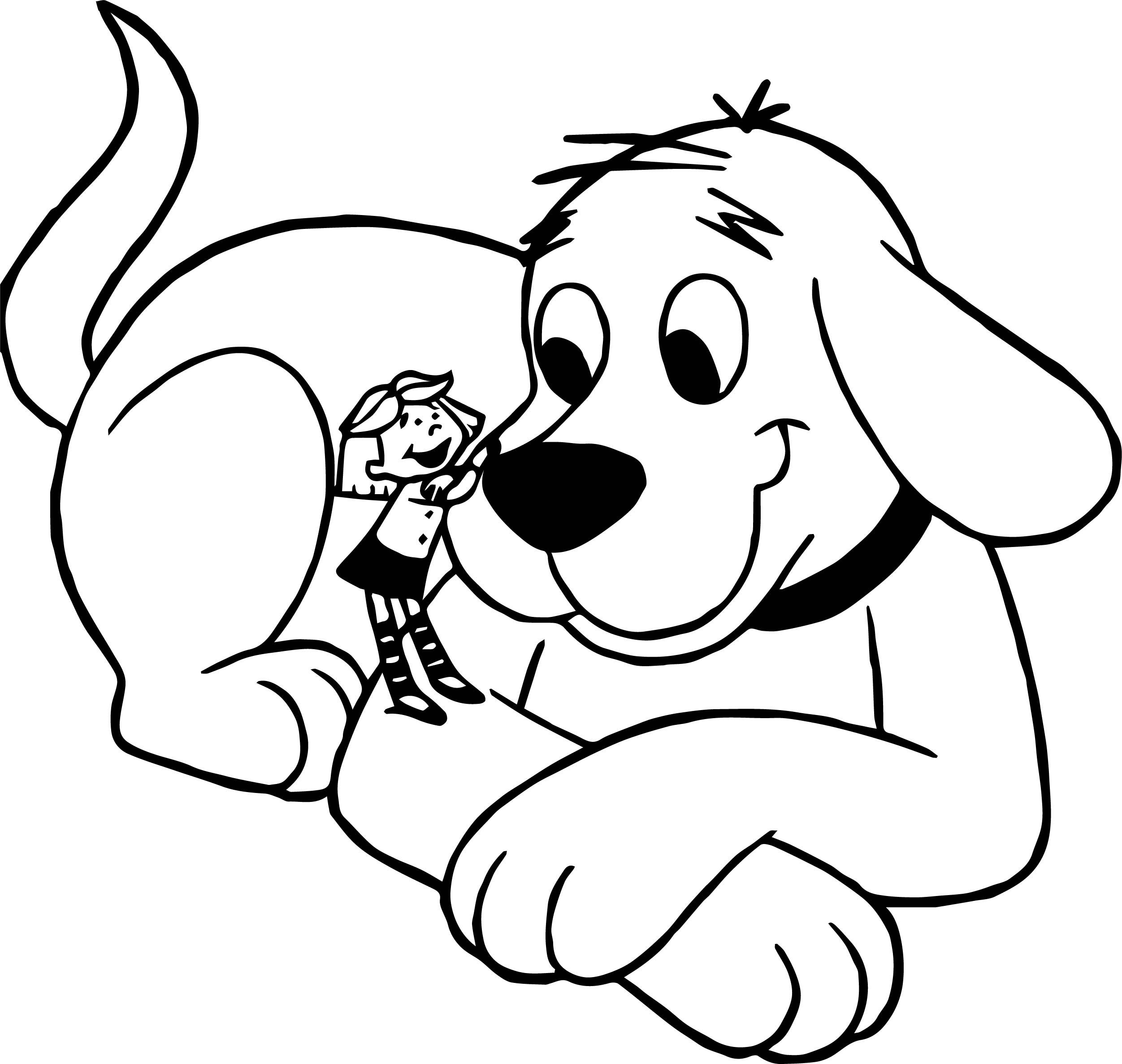 Cool Clifford The Big Red And Small Girl Dog Coloring Page Dog Coloring Page Coloring Pages Coloring Books