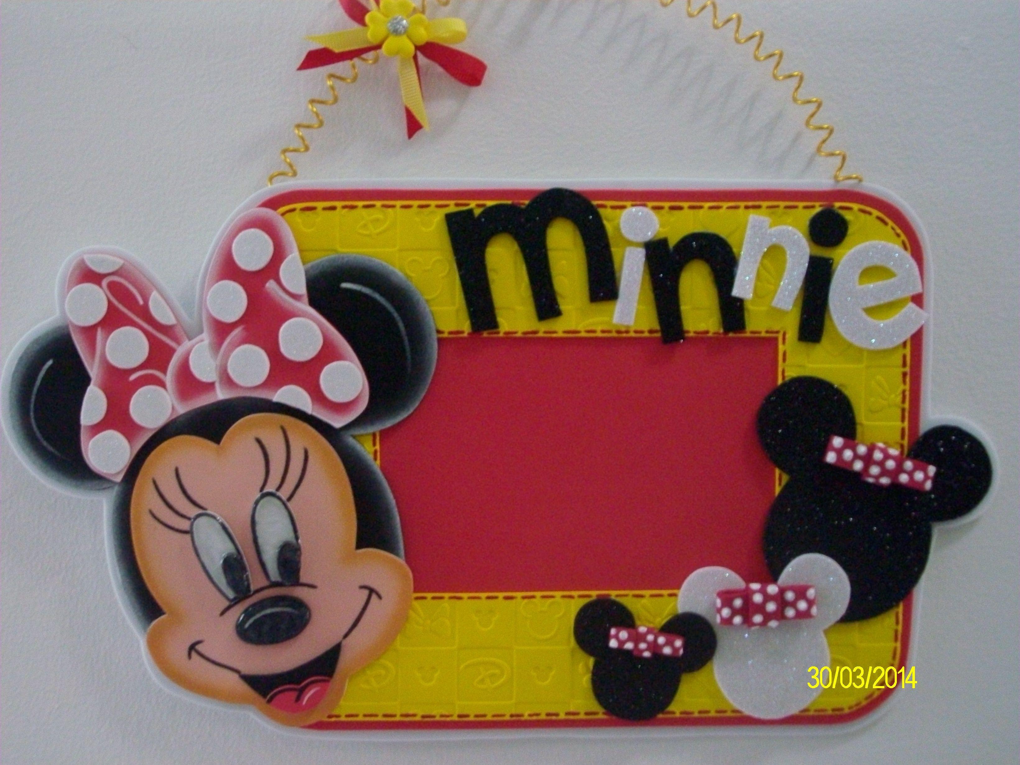 Portaretratos Colgante Minnie Mouse Goma Eva Pinterest