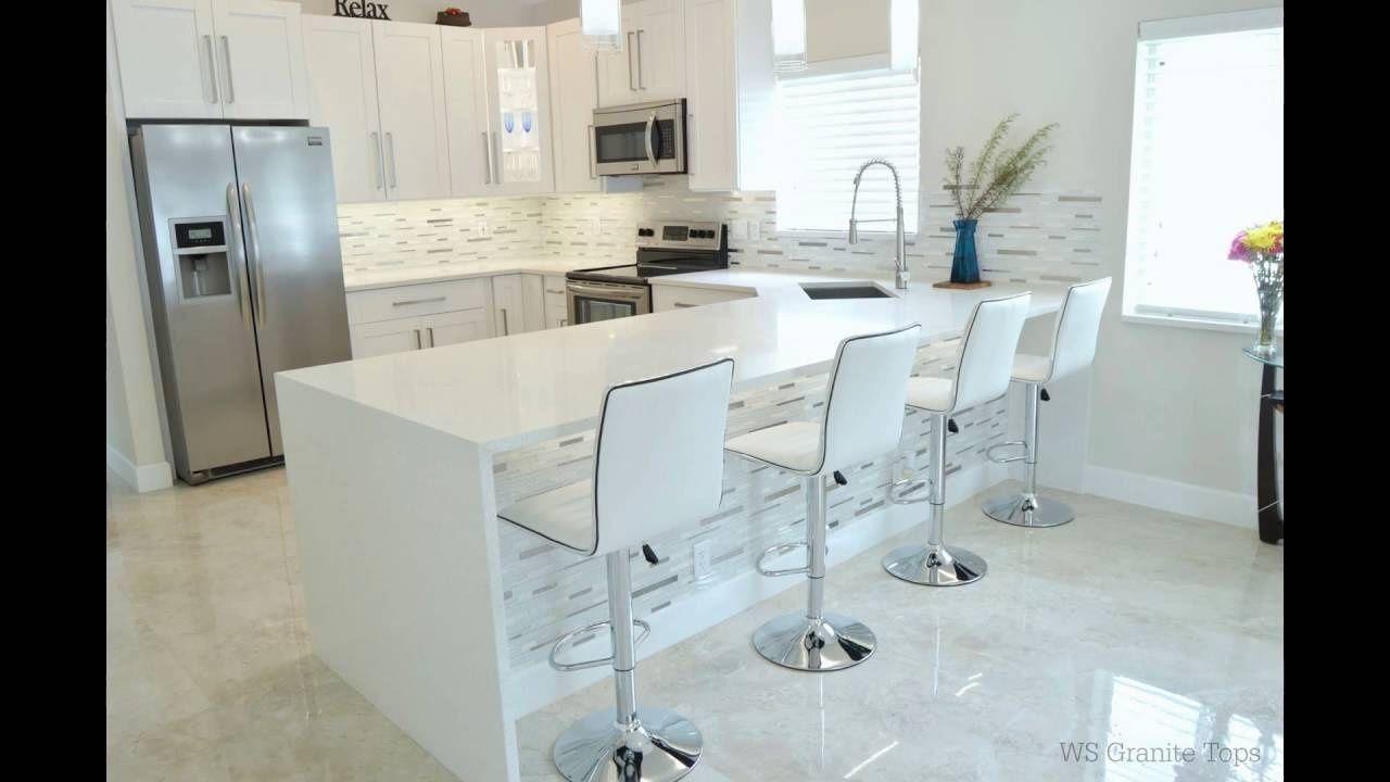 70+ Snow White Quartz Countertops - Kitchen Cabinets Update Ideas On ...