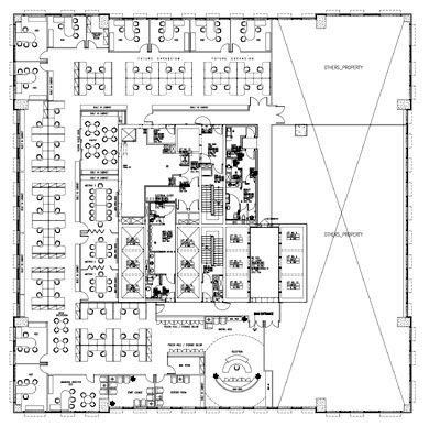 Large office layout office layout pinterest office for Office layout design