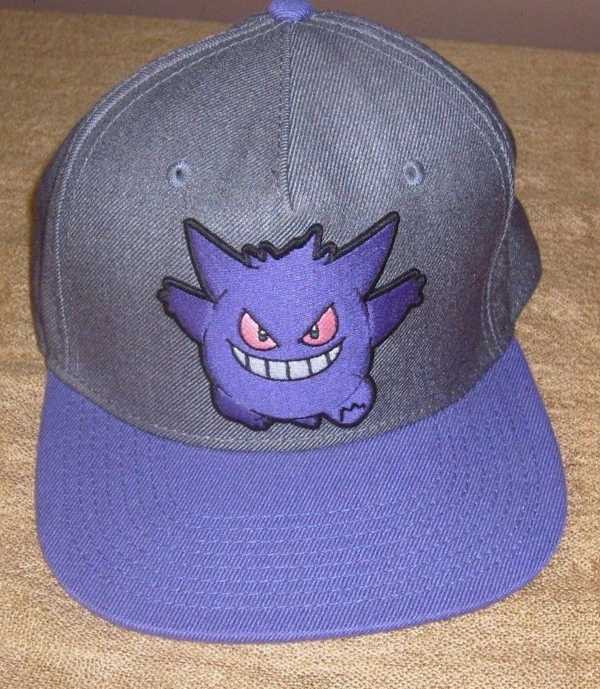 POKEMON GENGAR ORIGINAL SNAPBACK HAT FLAT BRIM PURPLE EMBROIDERED CAP NEW  WOT  SPENCERS  BaseballCap f565e4e7f32