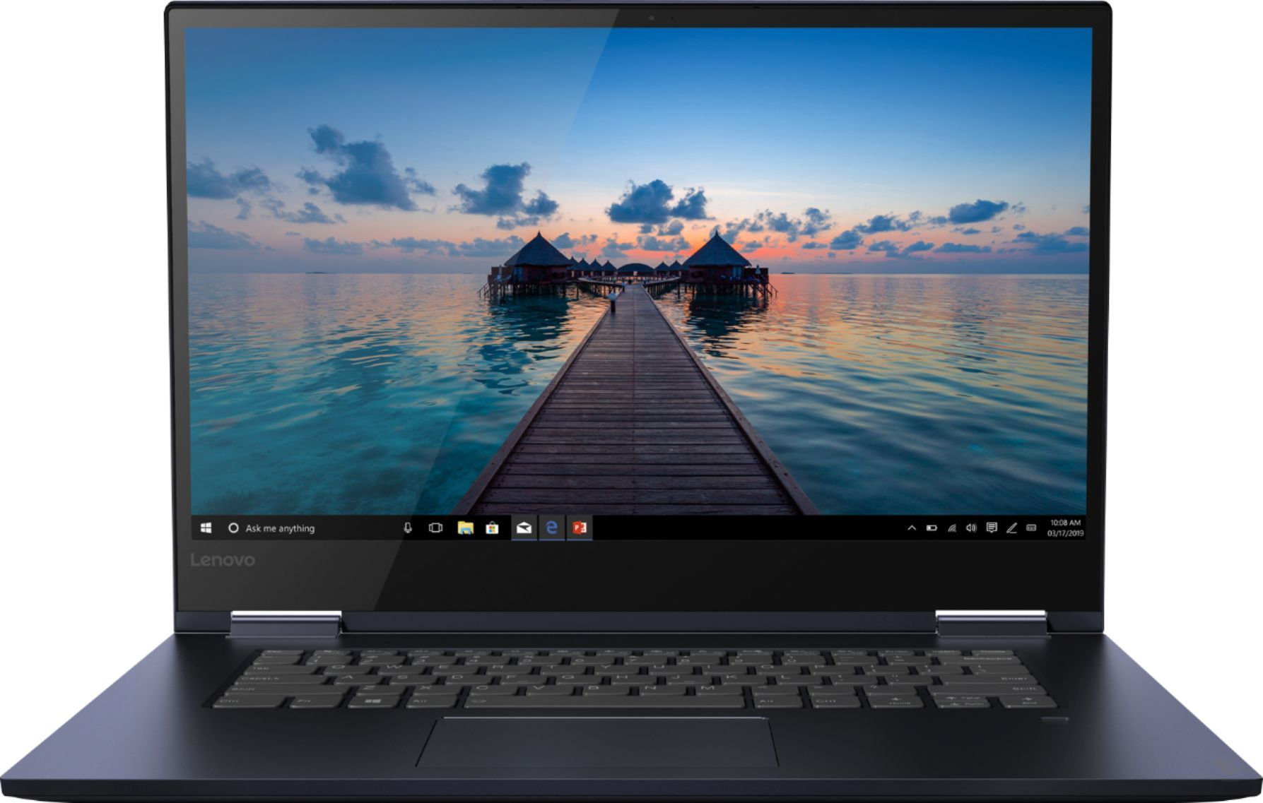 Lenovo Yoga 730 2 In 1 15 6 Touch Screen Laptop Intel Core I5 12gb Memory 256gb Solid State Drive Abyss Blue 81js005bus Touch Screen Laptop Lenovo Yoga Lenovo