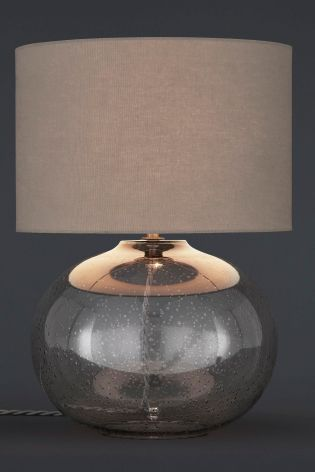 Buy Smoke Grey Bubble Glass Table Lamp From The Next UK Online Shop