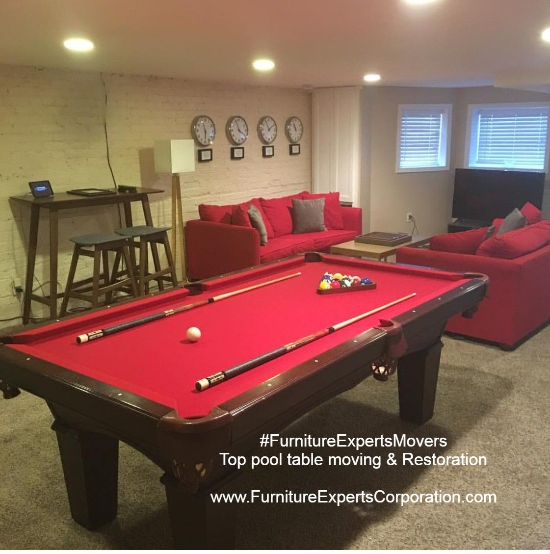 Pool table refelting Pool table moving, Pool table