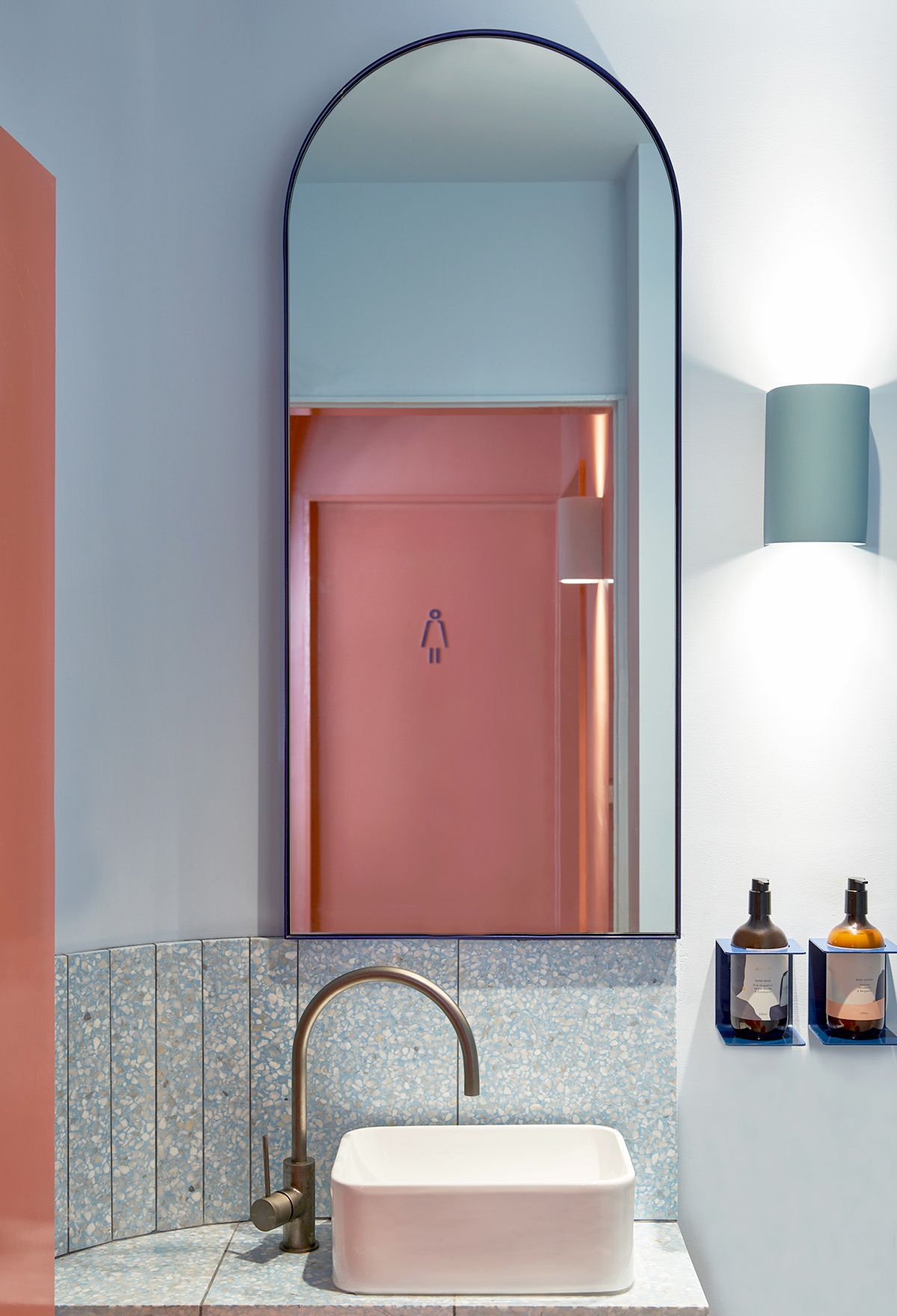 The interior by Studio Esteta ticks off a number of trends—terrazzo ...