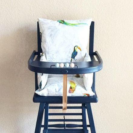 Coussin Chaise Haute Oiseaux Tropicaux Ce Coussin Chaise Haute