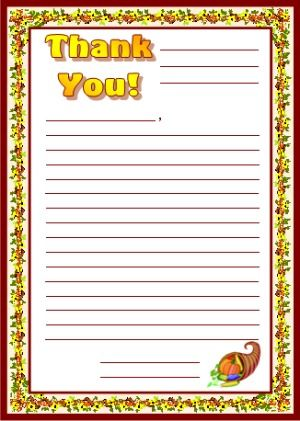 Give Thanks Stationery  Click Here To Download This Free
