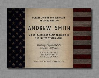 military going away party invitation by justaddpaperdesigns army