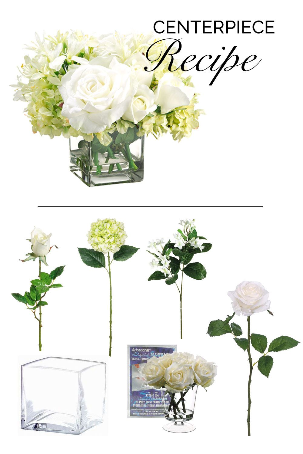 Make this beautiful wedding centerpiece with liquid illusion and ...