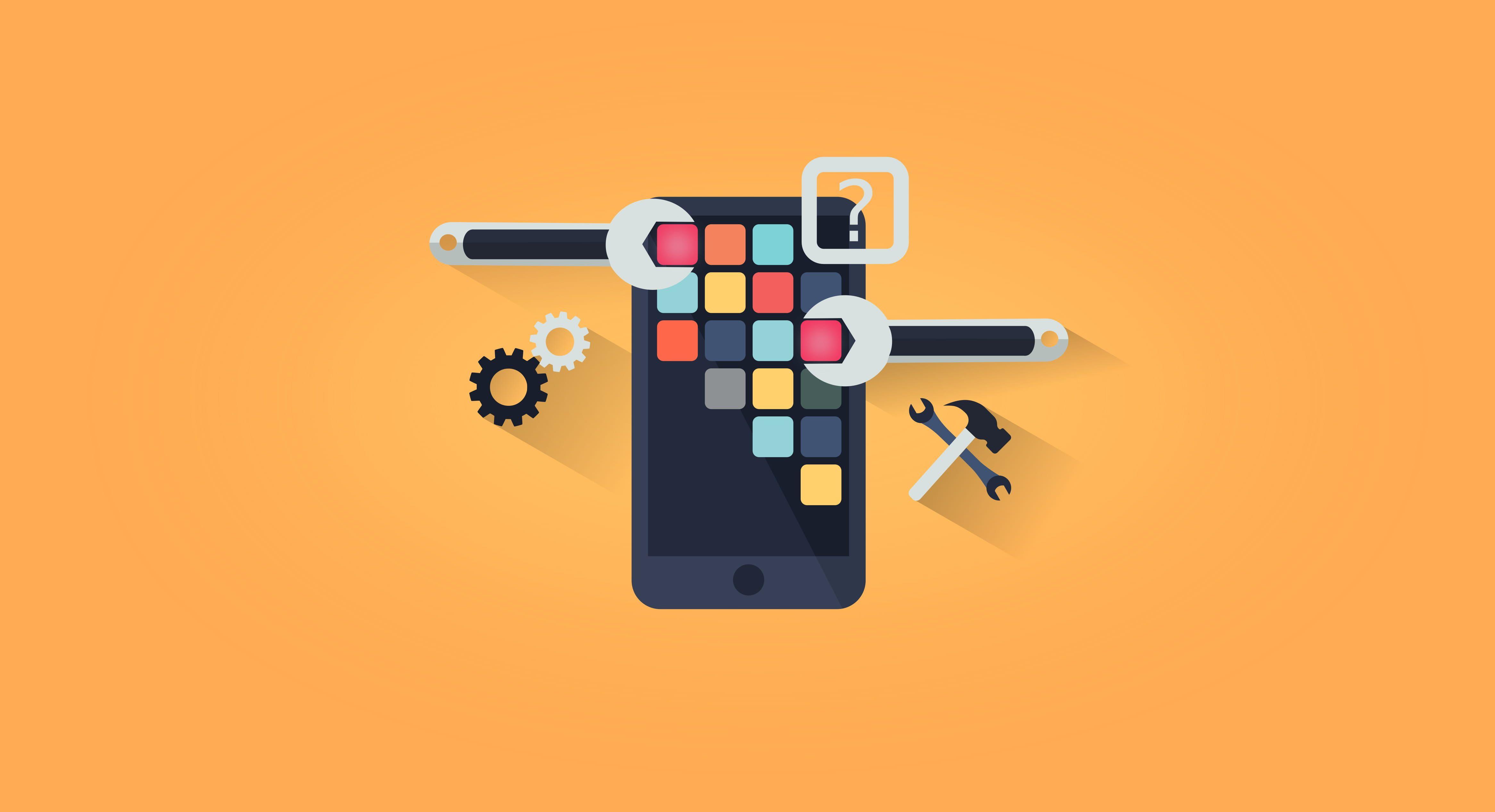 App Development App Design Simple Illustration