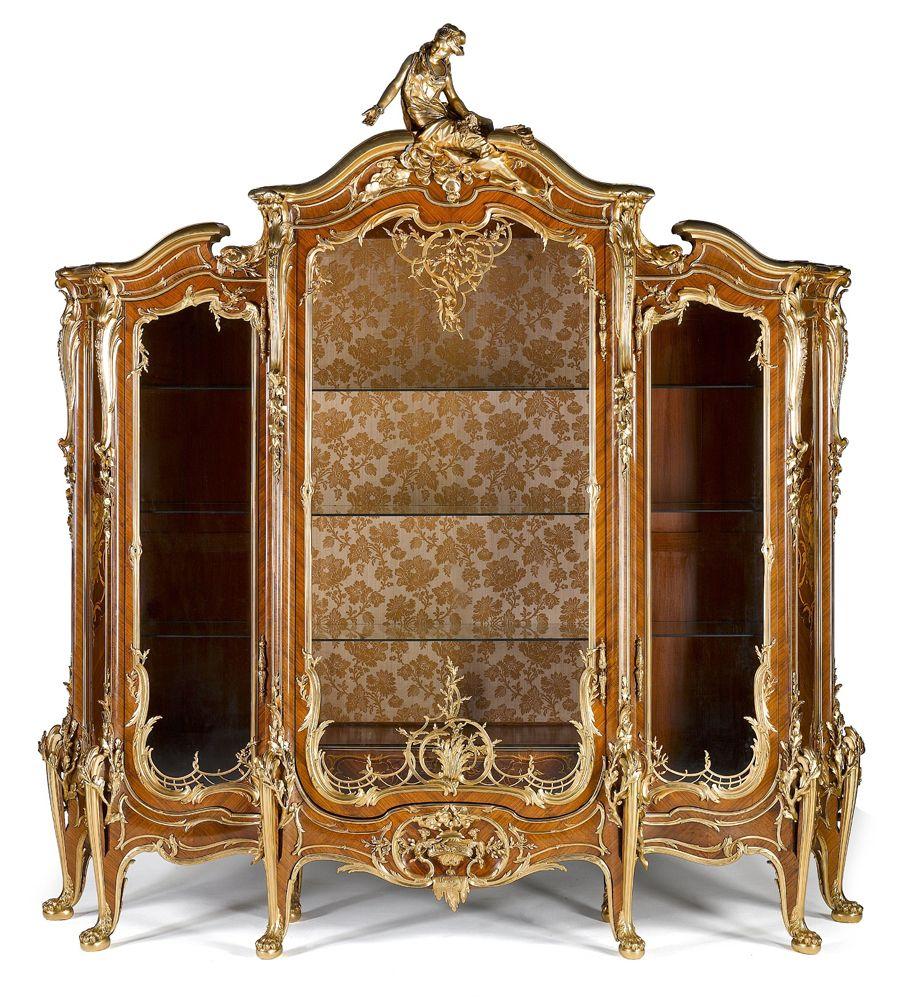 Maravilloso Mueble Vitrina Estilo Rococo Fran Ois Linke  # Eduardo Pez Muebles