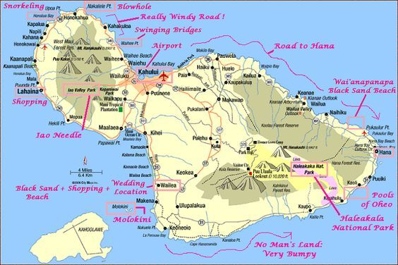 Maui Waterfalls Map Looking forward to exploring waterfalls in Maui guide map maui