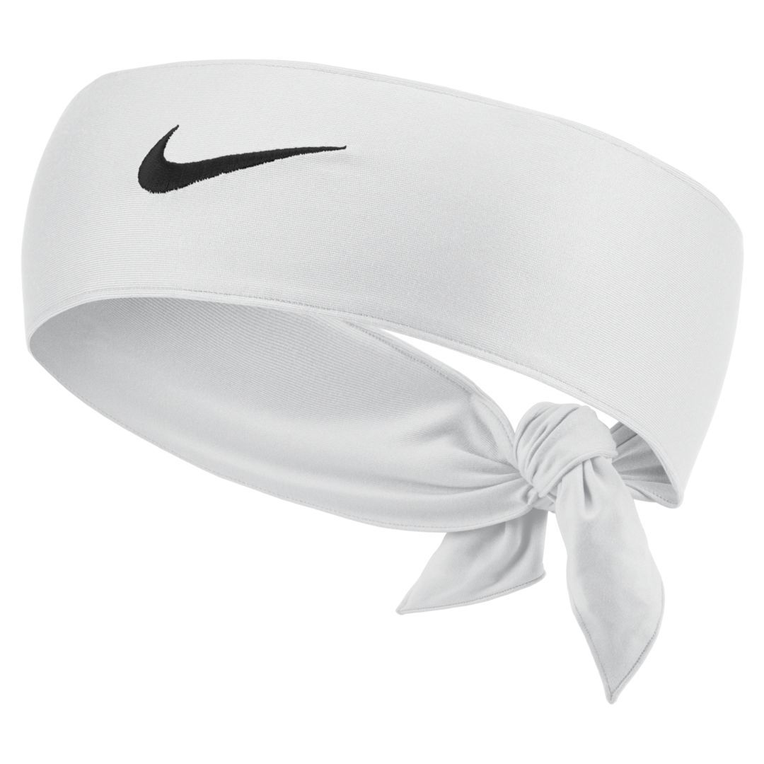Nikecourt Dri Fit 2 0 Tennis Head Tie White Head Ties Dri Fit Trendy Headbands