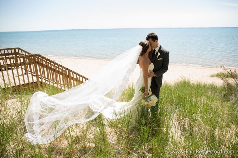 Lake Michigan Beach Wedding Photo Northern Near Bellaire And Torch By Paul Retherford