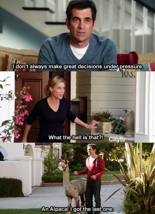 i can't imagine phil dunphy as a father. haha.