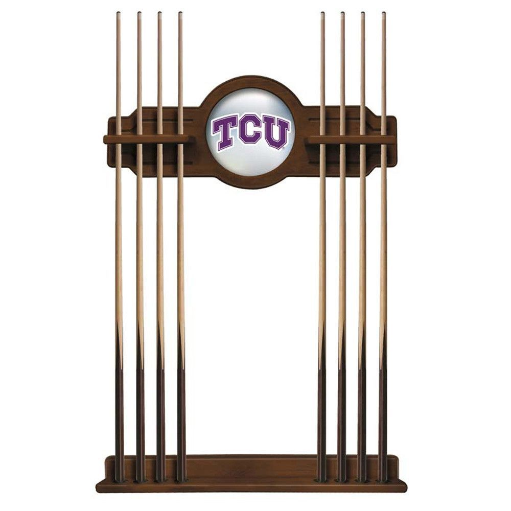 TCU Horned Frogs Billiard Cue Rack