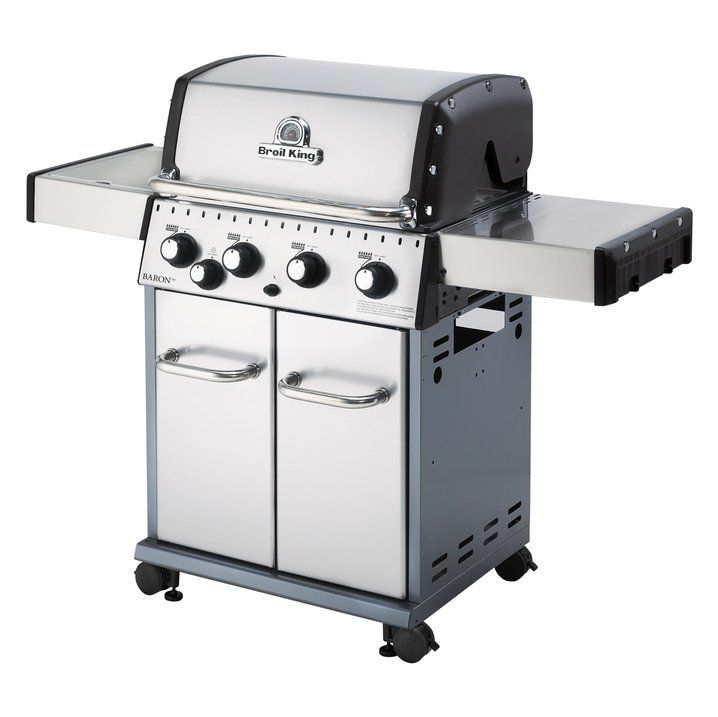 Baron S440 Stainless Steel 4 Burner Propane Gas Grill With Side Burner Gas Grill Propane Gas Grill Natural Gas Grill
