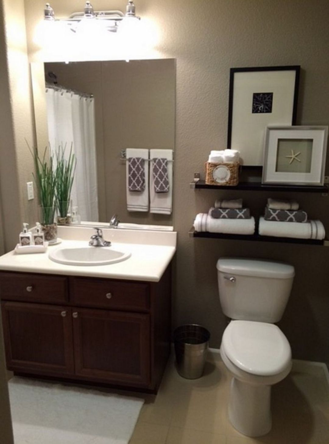 Cool 25 Simple And Elegant Bathroom Decorating Ideas For Your Apartment