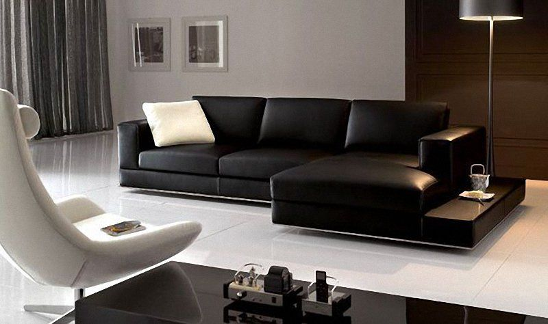 Floating Black Leather Couch  Home Ideas  Pinterest  Black Enchanting Black Leather Living Room Furniture Design Ideas