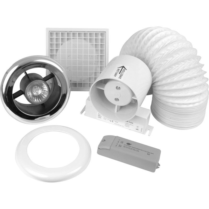 100mm Inline Shower Extractor Fan Kit With Light Timer Toolstation Idee Bagno Piccolo Bagno Piccolo Bagno