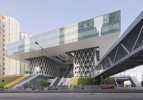 Hong Kong Design Institute By Caau Facade Design Glass Building