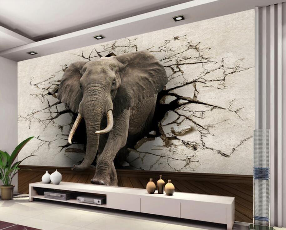 Grosshandel 3d Kundengebundene Tapete Elefant Wandbild Tv Wand Hintergrund Poster Wohnzimmer Schlafzimmer Tv Hintergrund Wandbild Tapete Fur Wandtattoo Von Fst16 Wandtapete Tapeten Abnehmbare Tapete
