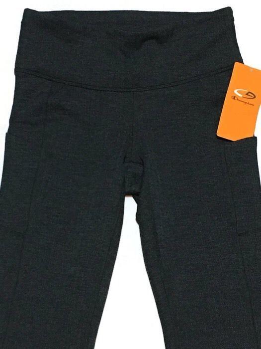 b633022189b70 CHAMPION Duo Dry Yoga Pants XS Leggings Fitted Stretch Ebony Heather New # Champion #FittedYogaPants