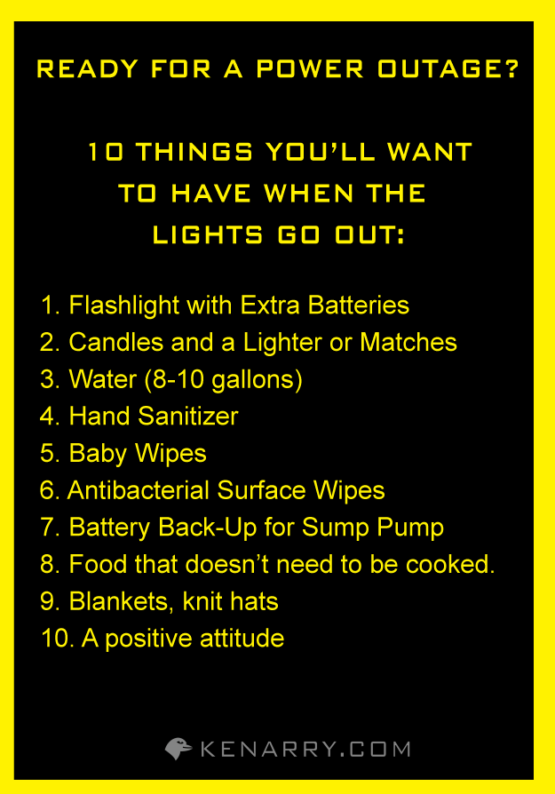 Power Outage: Five Reasons to Give Thanks | Preparedness