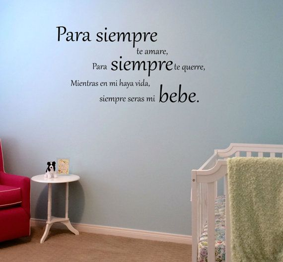 spanish i'll love you forever vinyl wall decal perfect for