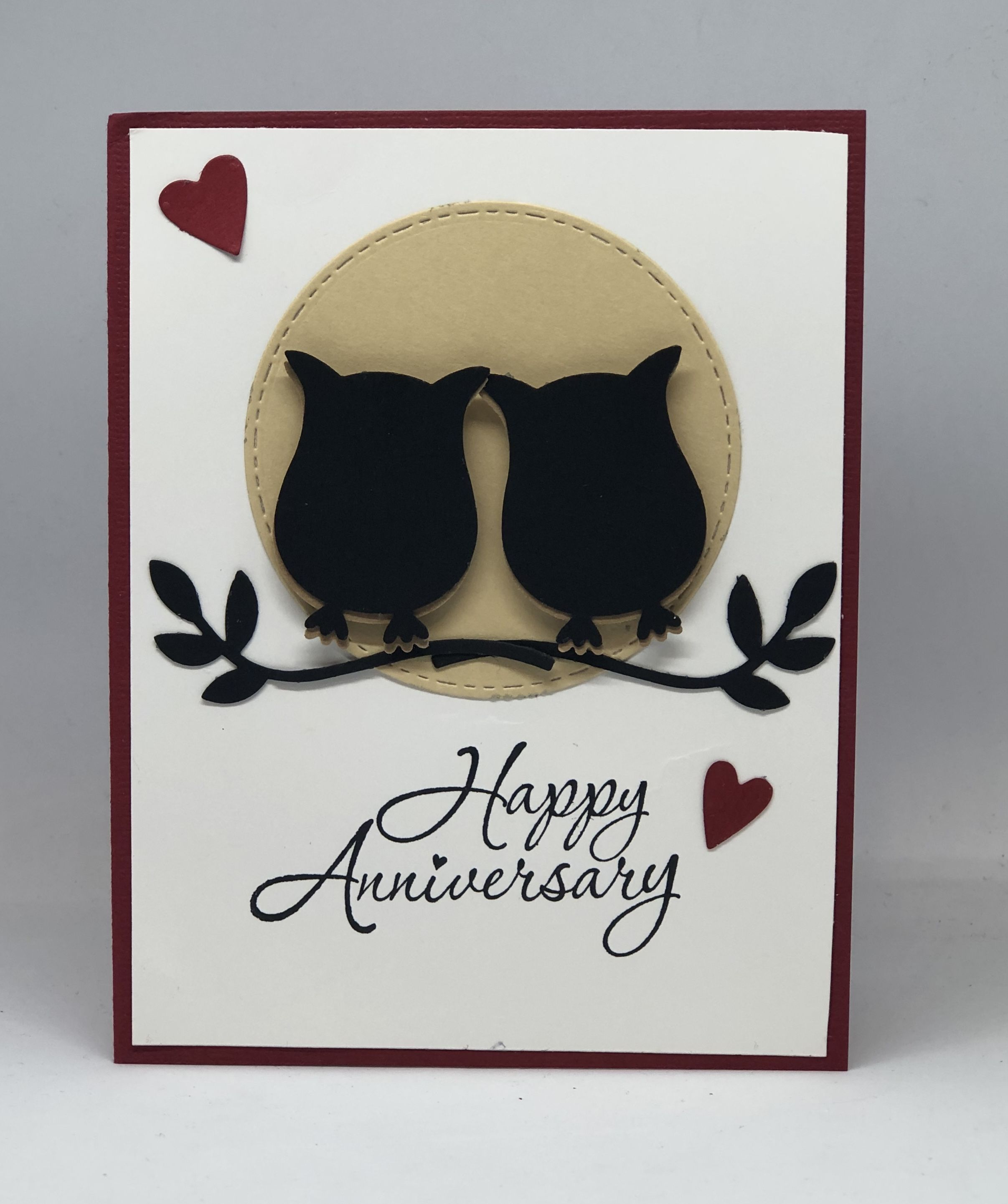 Anniversary Cards Happy Anniversary Love Card Owl Couple Friends Family Couples Card Greeting Cards Handmade Greeting Card Shops Handmade Greetings