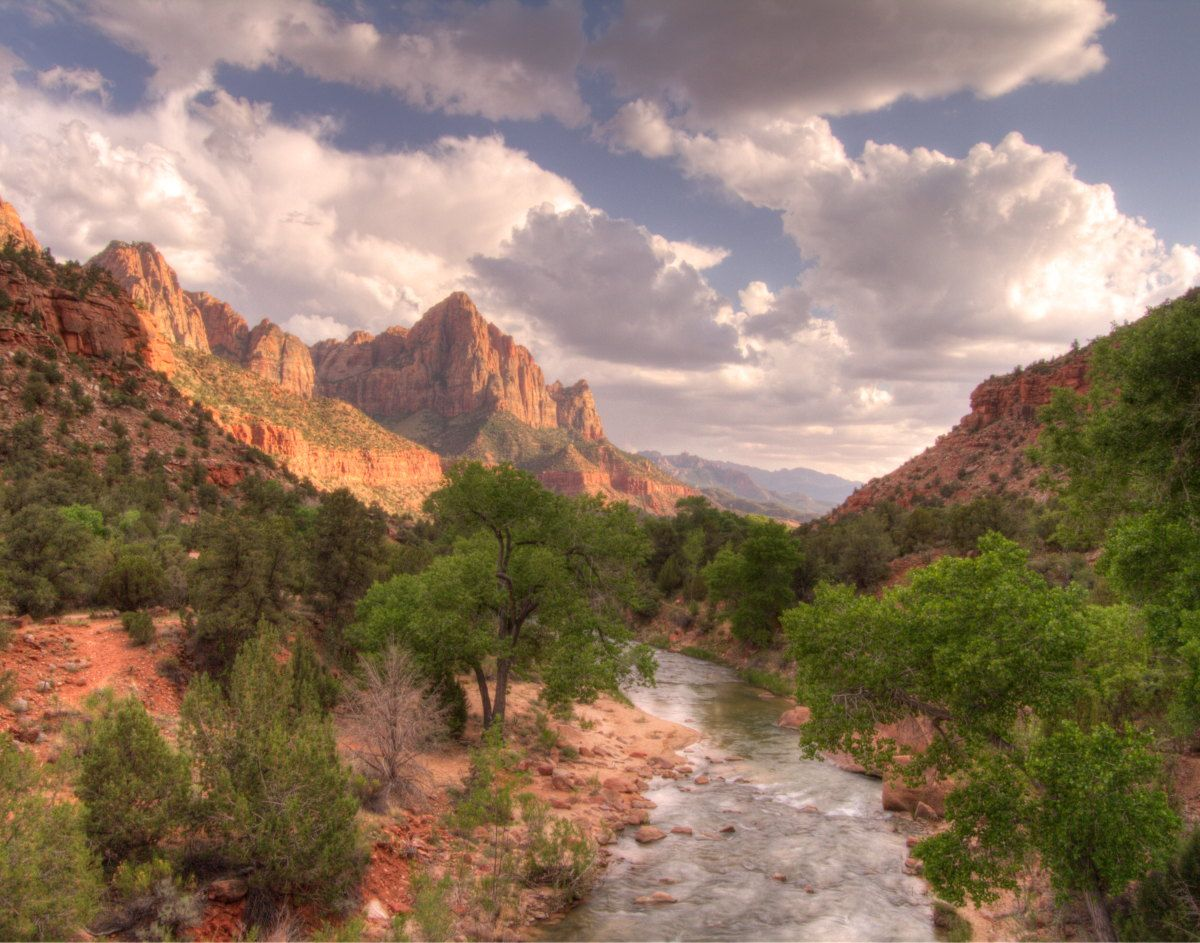 Zion Valley With Virgin River In Foreground Felt Like I Was In A Picture Setting Photography By Nick Monsoor My Pictures Around The Worlds Landscape