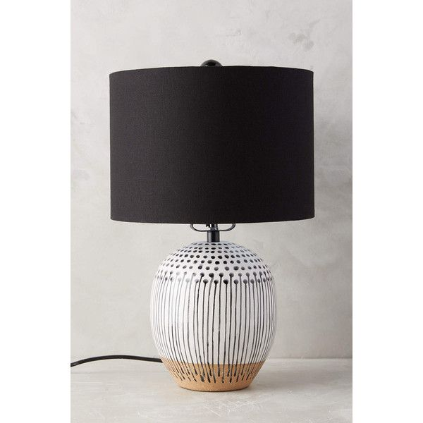 Anthropologie Uteki Painted Lamp Ensemble ($298) ❤ liked on Polyvore featuring home, lighting, ceramic lamp and painted lamp