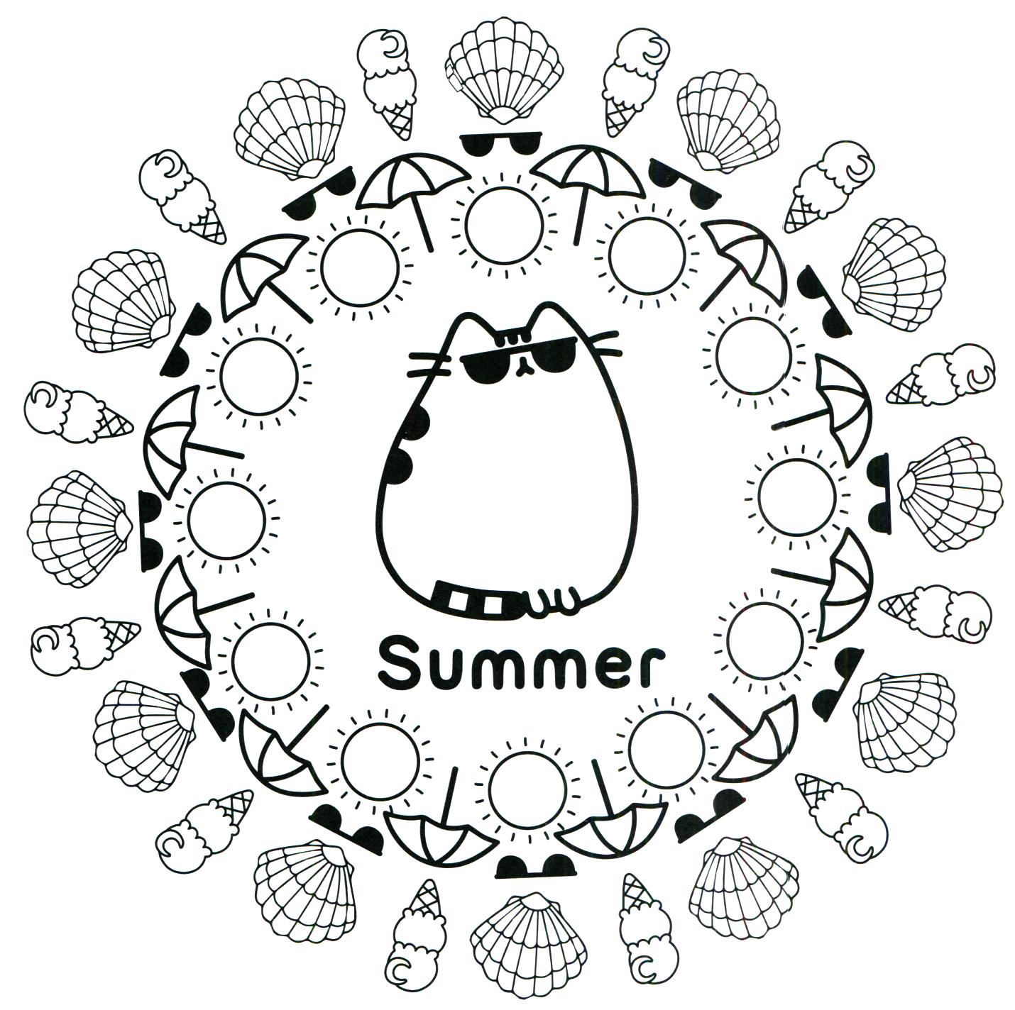 Pusheen Coloring Book Pusheen Pusheen The Cat Pusheen Coloring Pages Summer Coloring Pages Coloring Pages For Teenagers